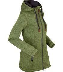 giacca in pile con cappuccio (verde) - bpc bonprix collection