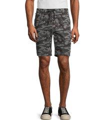 drawstring camo-print shorts