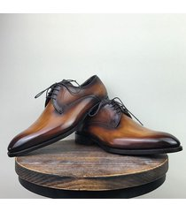 handmade two tone oxford shoes, tuxedo dress formal casual fashion office shoes