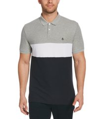 original penguin men's colorblocked pique polo shirt