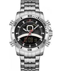 reloj militar plateado naviforce