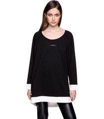 bluza czarno-kremowa
