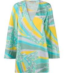 emilio pucci lily pattern beach dress - green