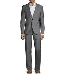 astor/hends regular-fit virgin wool suit