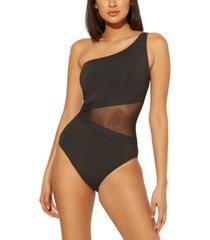 bleu by rod beattie one-shoulder one-piece swimsuit women's swimsuit