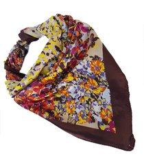 pañuelo marrón nuevas historias  print floreado ba1177