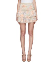 'kirsten' broderie anglaise tiered skirt