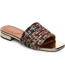 sandals 18718 shoes summer shoes flat sandals svart carla f