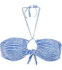 track & field bali bandeau bikini top - blue