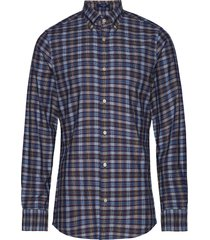 d1. tp indigo check slim lbd overhemd casual blauw gant