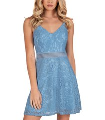 speechless juniors' lace skater dress