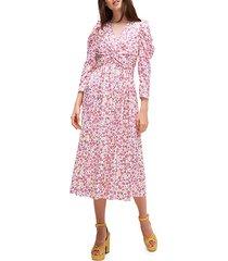 marker floral devore dress