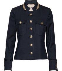 selby twiggy jacket blazer colbert blauw mos mosh