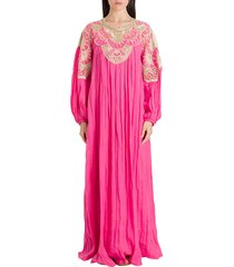alberta ferretti kaftan maxi dress