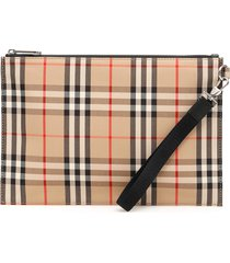 burberry check flat pouch