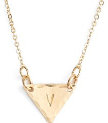 nashelle 14k-gold fill initial triangle necklace in 14k gold fill v at nordstrom