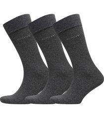 3-pack soft cotton socks underwear socks regular socks svart gant