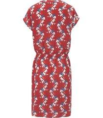 jurk met v-hals van peter hahn multicolour