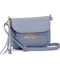 bolsa dhaffy bolsas com bolso na frente azul