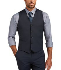 awearness kenneth cole awear-tech blue extreme slim fit suit separates vest