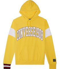 converse sudadera con capucha fleece wordmark yellow