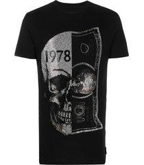 philipp plein glass skull print t-shirt - black