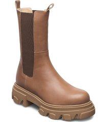 mega chuncky elastic shoes chelsea boots brun apair