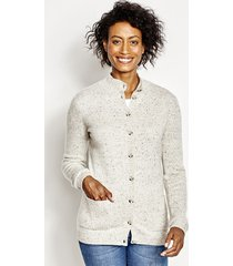 countryside cashmere cardigan sweater, dark charcoal, x large