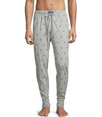 polo ralph lauren men's logo-print cotton pajama pants - grey - size xl