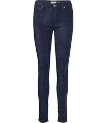 slender vegan leather skinny jeans blå please jeans