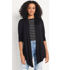 maurices womens black long sleeve open front cardigan