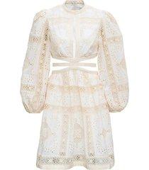 zimmermann aliane floral openwork cotton dress