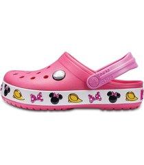 sandália crocs crocband minnie clog kids rosa