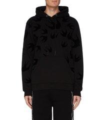 swallow print hoodie