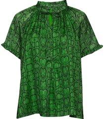 lakiin blouse blouses short-sleeved groen birgitte herskind