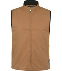 wolverine men's fr canvas vest brown, size xxl
