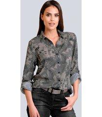 blouse alba moda taupe::antraciet