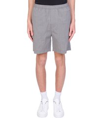 mauro grifoni shorts in grey wool