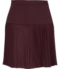 emi pleated mini skirt kort kjol röd marciano by guess