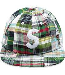 supreme patchwork camp cap - green