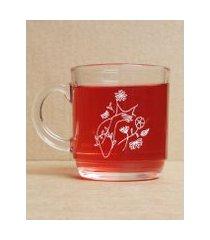 amaro feminino chá de autoestima caneca vidro, neutra