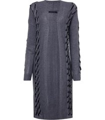 cardigan john john deluxe tricot cinza mescla feminino (cinza mescla escuro, gg)