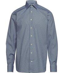 geometric print shirt - contemporary fit skjorta business blå eton