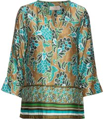 bahiacr blouse blouse lange mouwen multi/patroon cream
