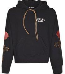 palm angels side roses hoodie