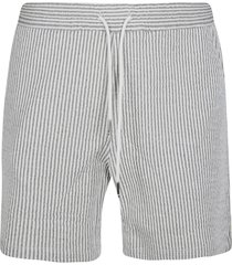 thom browne mid thigh stripe shorts