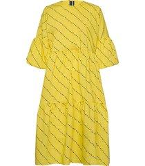 amber dress jurk knielengte geel résumé