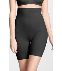 women's tc back magic high waist shaping thigh slimmer, size x-large - black