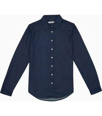 camisa clasic slim indigo azul calvin klein