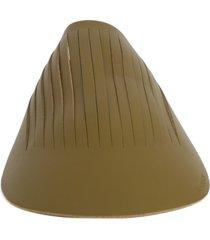 j.w. anderson olive green leather baseball visor